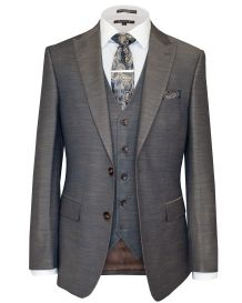 Hollywood Suit Brown Stretch Modern Fit Vested Suit