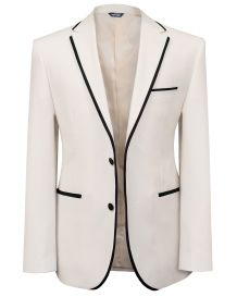 Hollywood Suit Cream Satin Line Dinner Jacket