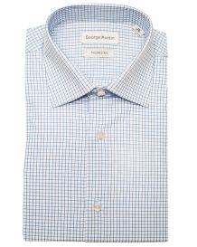 George Austin Blue Check Cotton Dress Shirt
